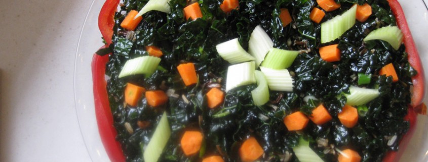Karen Ehmke's healthy kale salad with rice