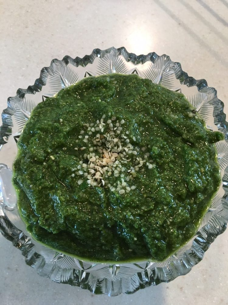 Finished pesto - delicious!